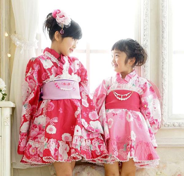 京都瑠璃雛菊の浴衣ドレス