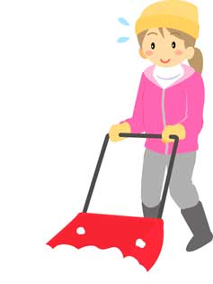 雪かきの道具