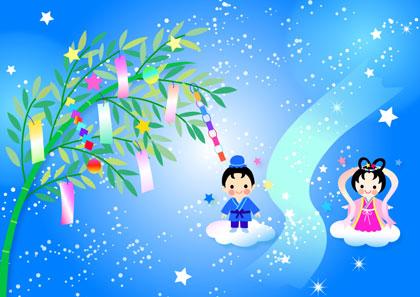 七夕織姫様と彦星様