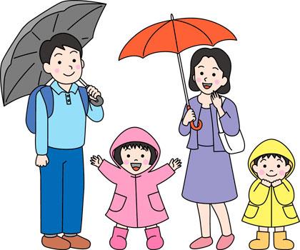 雨の日のディズニーの雨具