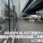 ARASHI BLAST宮城グッズの値段は?先行販売の抽選二次募集はいつあるの?